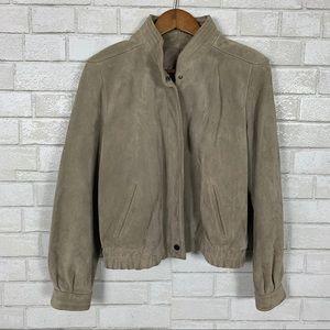VTG Winlet suede leather jacket beige